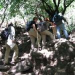 Climbing the Tepozteco pyramid