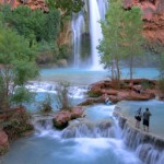 Swimming in Havasupai Falls