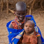 Masai mother & child
