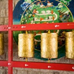 Prayer wheels on our Spiritual Journey to Dharamsala