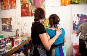Flora Bowley painting workshop
